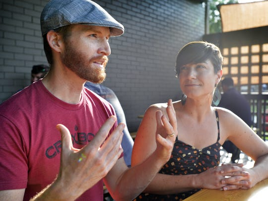 Brian and Nicole Cendrowski, owners of new Greenville brewery Fireforge Crafted Beer, discuss their business plans. They have found a space at 311 E. Washington Street for their brewery and taproom.