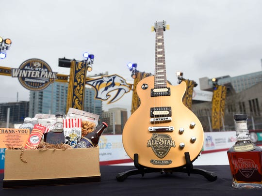 The NHL All-Star swag bag includes Yazoo beer and a personalized Gibson guitar, among many other items.