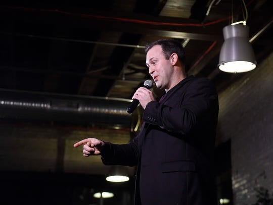 Magician Jason Michaels speaks during Monday's Nashville