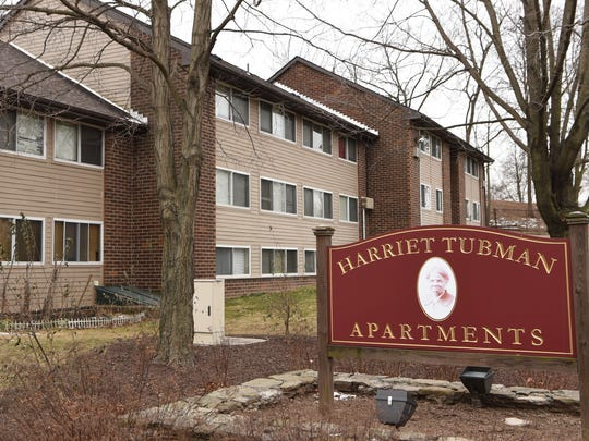A view of the Harriet Tubman Terrace apartment complex in the City of Poughkeepsie.