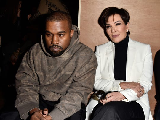 Kanye West and Kris Jenner, seen at the 2016 Paris Fashion Week, are expected to be mentioned in Kathy Griffin's talk at the inagural Palm Springs International Comedy Festival.