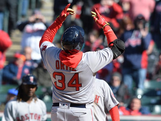 USP MLB: BOSTON RED SOX AT CLEVELAND INDIANS S BBA USA OH