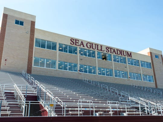 The new Sea Gull Stadium at Salisbury University.