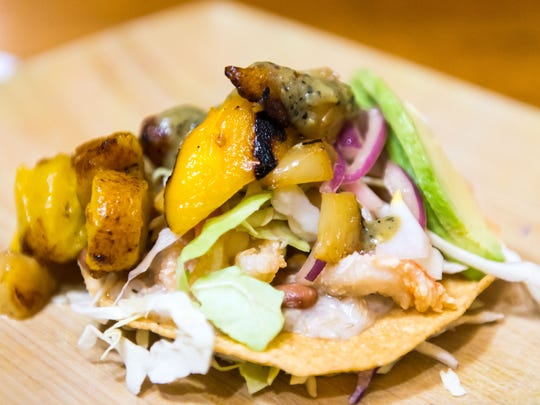 The shrimp tostada, a new Mayan dish as Culture in West Ocean City on Thursday, April 21.