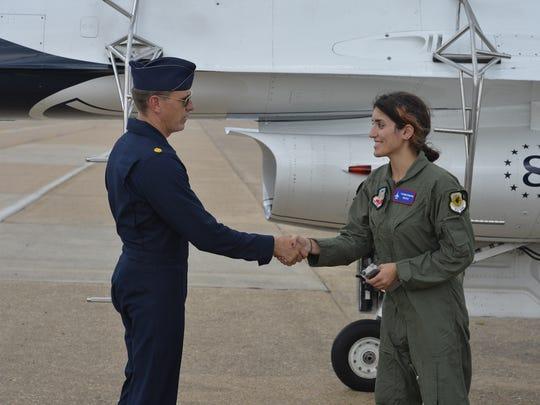 With my pilot, Maj. Scott Petz, Thunderbird #8
