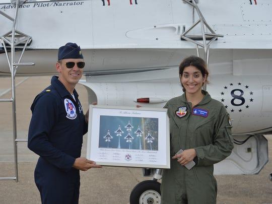 "Maj. Scott ""Cheetah"" Petz presented me with a commemoration"
