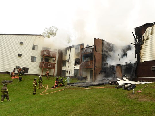 Firefighters battle blaze at Arbor Apartments in the