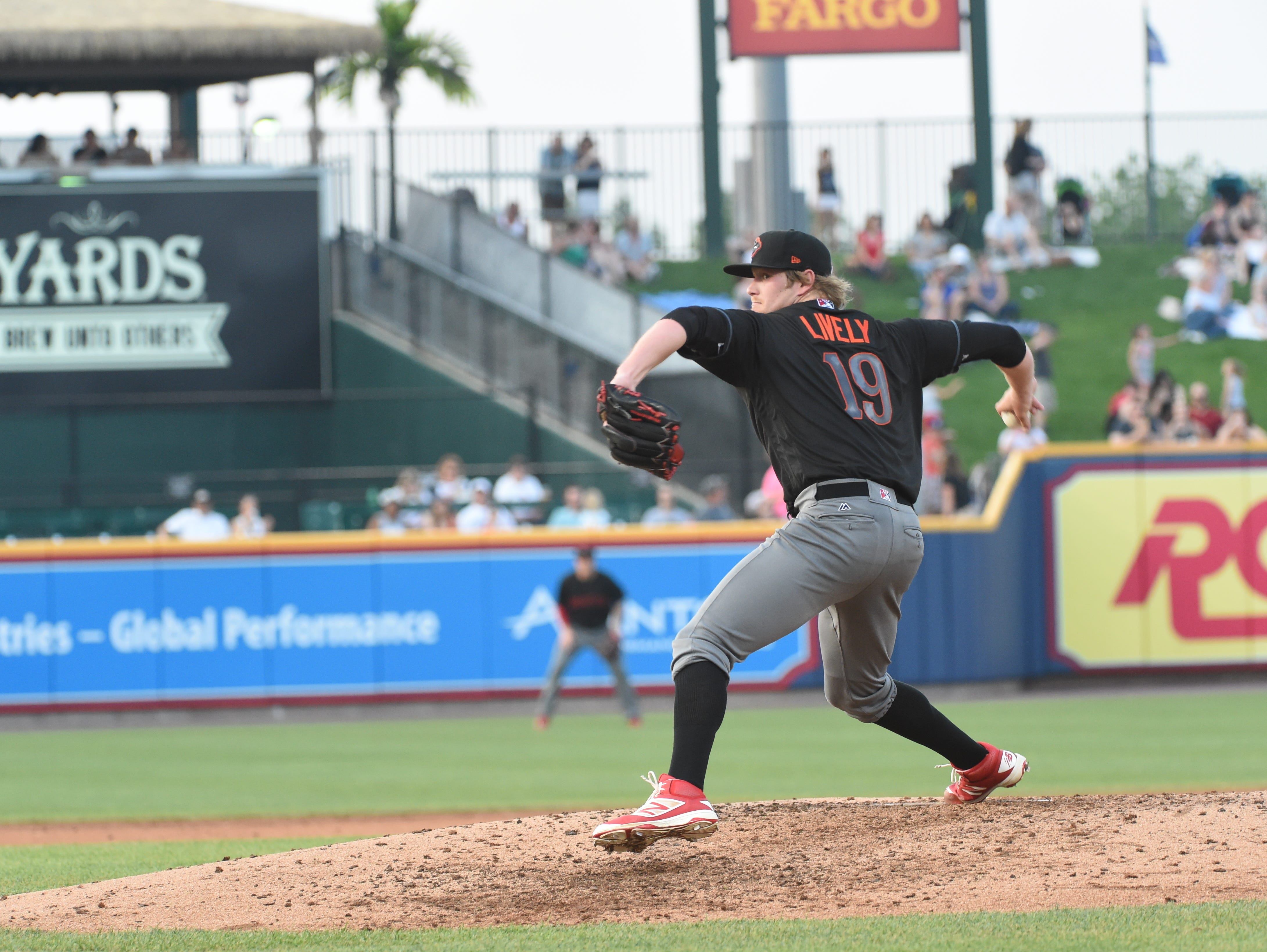 Gulf Breeze's Ben Lively joined the Lehigh Valley IronPigs, the Phillies' Triple-A affiliate weeks ago and earned his second pitcher of the week award Monday in two different leagues after picking up his 10th win this season.