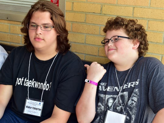 Brothers Walker, left, and Harrison Palmerton are both