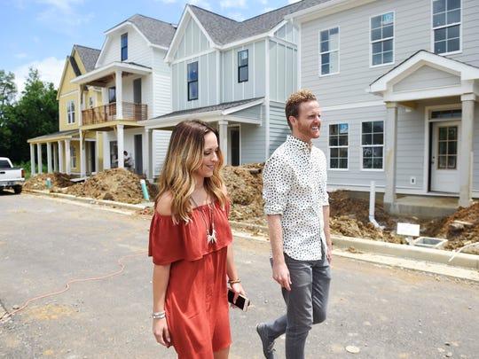 First-time homebuyer Lindsay Alderson walks down the