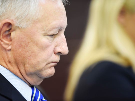 Deputy District Attorney General Tom Thurman listens during Cory Batey's sentencing. Batey received 15 years in the Vanderbilt rape case on July 15, 2016.
