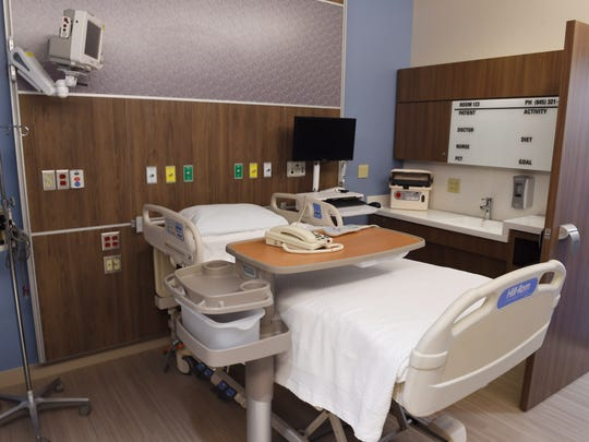 A prototype of a typical patient room from the 'Prototype Experience' at Vassar Brothers Medical Center in the City of Poughkeepsie on Thursday. The 'Prototype Experience' is a full scale replica of rooms and nursing stations which will be in the new patient pavilion which will begin construction in September.