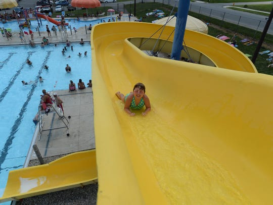 Replacing the large slide at Cordell Municipal Pool would be one of the projects completed by the Richmond Parks and Recreation Department if a $748,000 bond receives final approval.