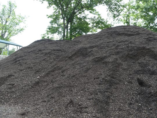 A pile of compost at the Ulster County Resource Recovery Agency in the Town of Ulster.