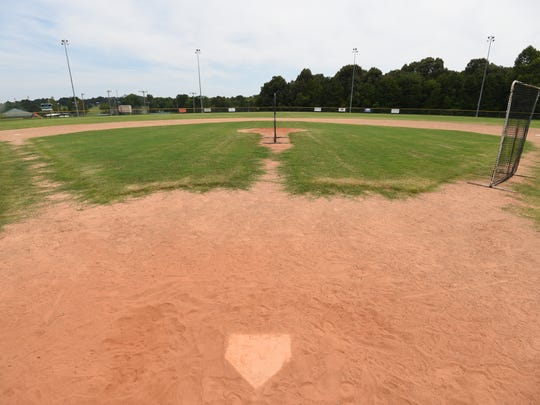 The infield of the Babe Ruth field at Clysta Willett Park is seen in this file photo. The City of Mountain Home is seeking ideas to improve its parks as it prepares to apply for a state-funded grant to purchase new park equipment like bleachers or playground equipment.