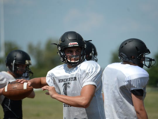 Winchester Community High School football player Austin