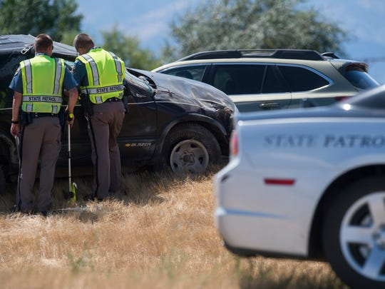 Colorado State Patrol responds to an accident in 2016.