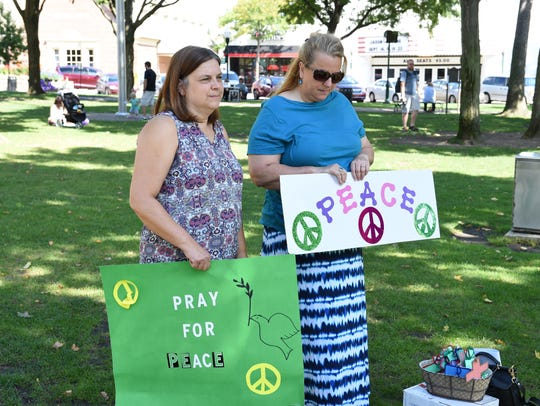 Living Peace Church members Connie Ellstrom and Jane