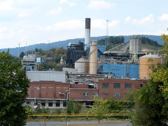 The WestRock paper mill in Covington, Va., in a photo made Sept. 4, 2016.
