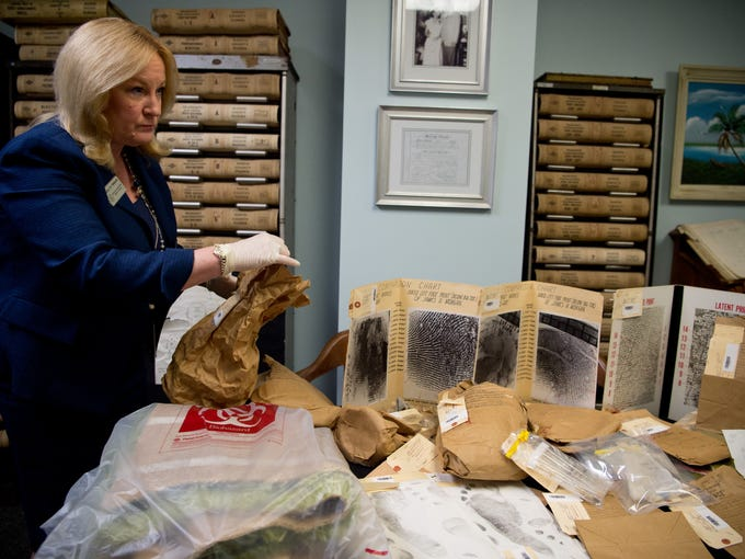 Images of evidence at the Martin County Courthouse
