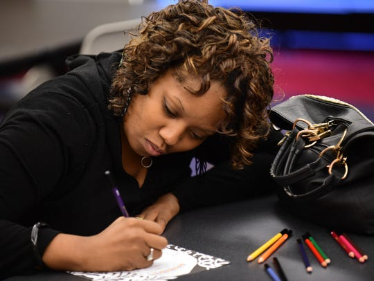 """Redford resident Sonya Gray concentrates on her """"Panther"""