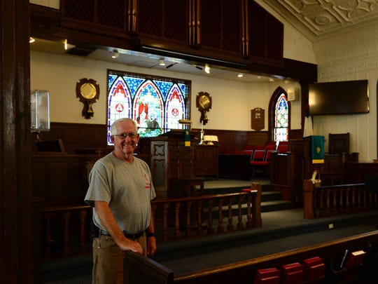 Wayne Bowen, member of the 200th celebration planning committee. St George's United Methodist Church is celebrating its 200th anniversary. Oct. 11, 2016.