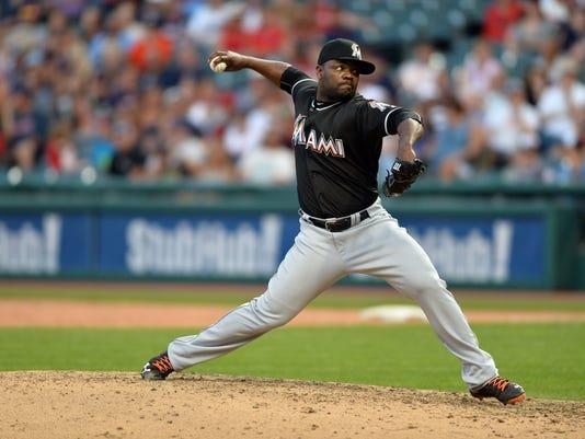 MLB: Miami Marlins at Cleveland Indians