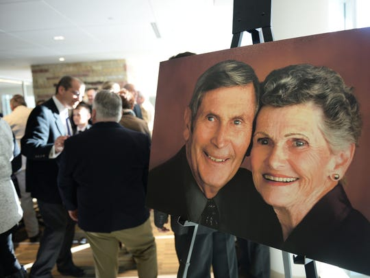 About 600 people attended a memorial service for Bob Everitt at Colorado State University's Lory Student Center on Feb. 23.