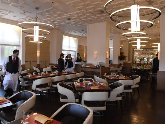 A view of the main dining area of The Bocuse Restaurant