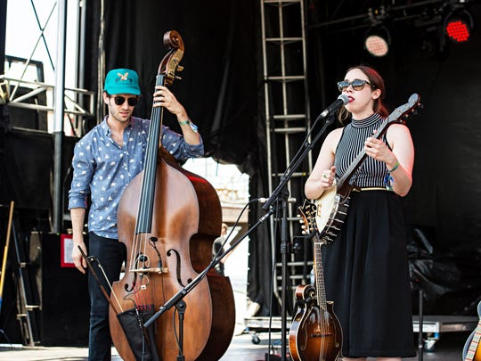 Sarah Jarosz seen during day two of Forecastle Music Festival at Waterfront Park on Saturday, July 16, 2016, in Louisville, Ky.