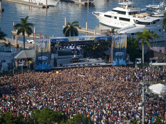 Sunfest attracts a huge crowd each year to see and hear top-notch entertainers.