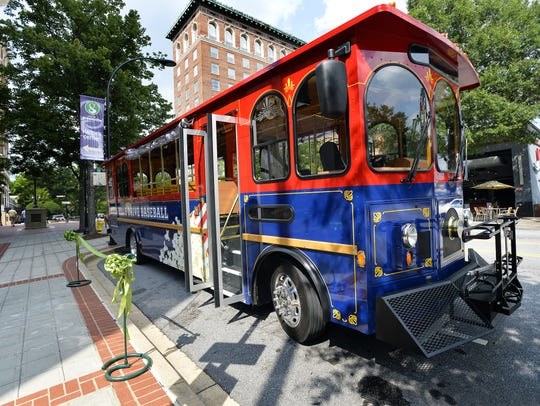 Greenville's free trolley system will be running during