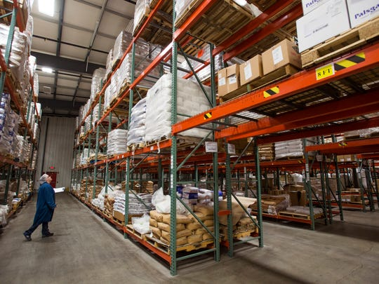 Raymond-Hadley stores its products in a 40,000 square-foot storage facility.