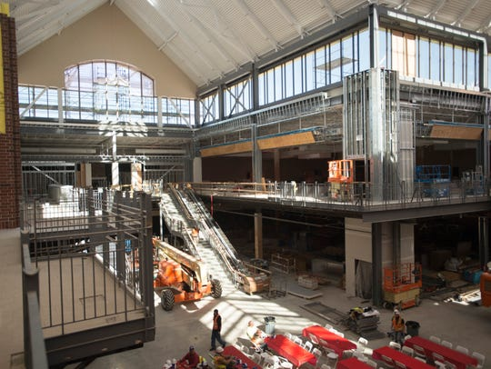 Construction continues at Scheels in Johnstown on Wednesday,