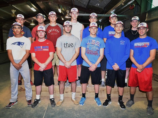 Union County High School baseball players pose for a photo Thursday, April 20, 2017 in Liberty. Back row, from left: Zander Kottka, Mason Miller, Blake Fields, Cameron Donovan, Joey Weller, Mook Shepler, Preston Scott. Front row from left: Jacob Stansberry, Justin Witter, Derek Dearth, Nate Webb, Leighton Schulte and Caleb Greene.