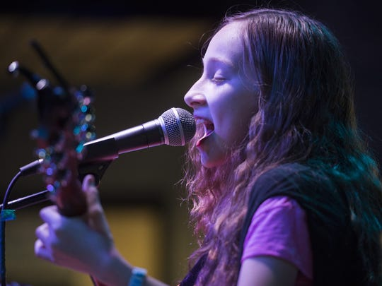 Emma Marie performs at the Downtown Artery during FoCoMX
