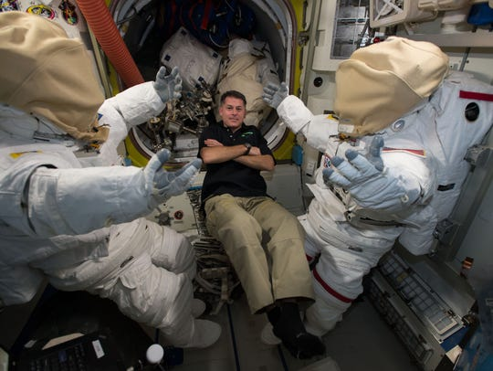 In December 2016, NASA astronaut Shane Kimbrough floated