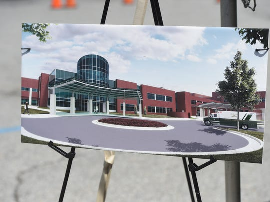An artist renditioning of the new emergency department expansion at Augusta Health.