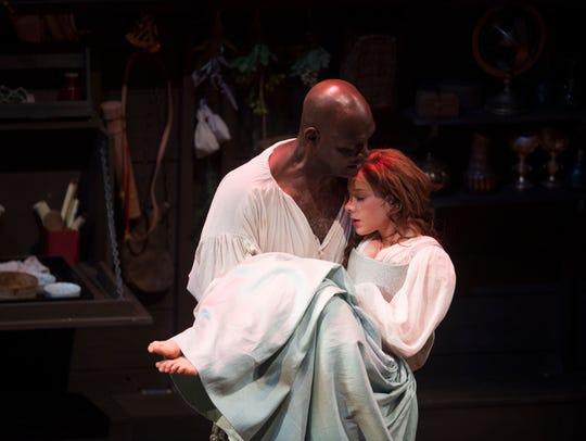"Esau Pritchett as Prospero in William Shakespeare's ""The Tempest,"" Geoffrey Sherman's final Shakespeare production at the Alabama Shakespeare Festival in 2017."
