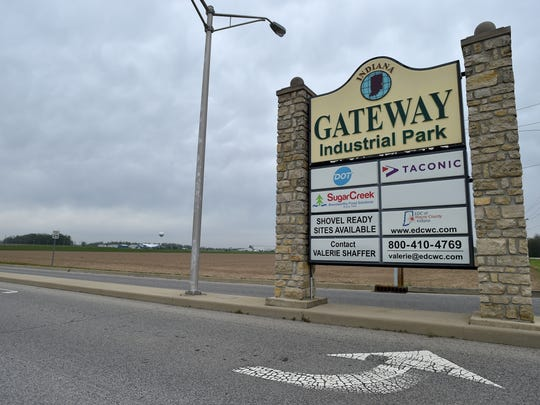The Gateway Industrial Park near the intersection of Interstate 70 and Indiana 1 is the home of SugarCreek Packing Co., among other businesses.