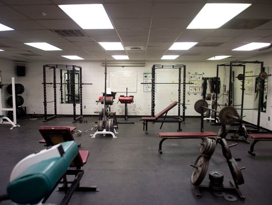 The usable space of the South Fork High School weight