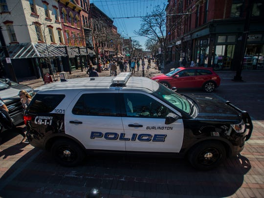 Burlington police regularly patrol Church Street on