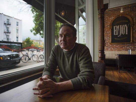 Dean Hines, owner of the Welsh Rabbit Bistro on Walnut