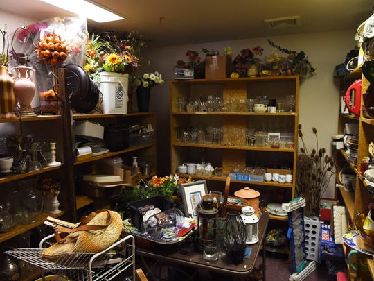 A view of one of the back store rooms of Pass It On 2, where owner Karen Allan stores spare parts and items. She uses these to help restore other items she acquires.