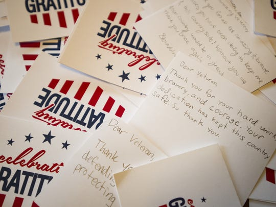 Anna Grace Holloway and her classmates at Kinard Core Knowledge Middle School  collected hundreds of letters from schoolmates thanking veterans for their service this Memorial Day.