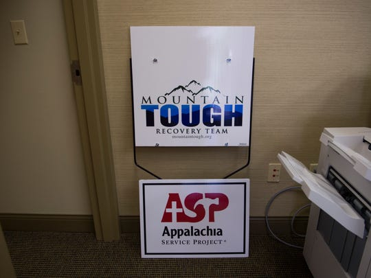 A Mountain Tough sign and an Appalachia Service Project