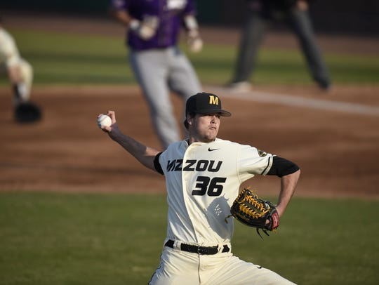 Hagerstown graduate Cole Bartlett pitches for the Mizzou