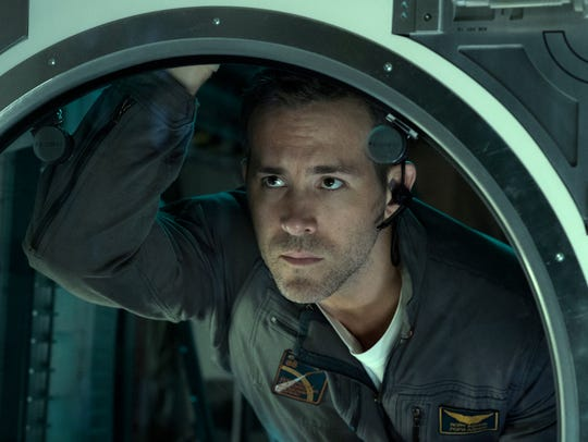 "Ryan Reynolds appears in a scene from, ""Life."""