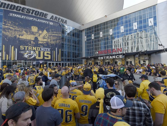The Nashville Predators are hosting their first-ever PredsFest presented by Cooper Steel from 3-10 p.m. Friday, Sept. 28  at Bridgestone Arena and Hall of Fame Park.