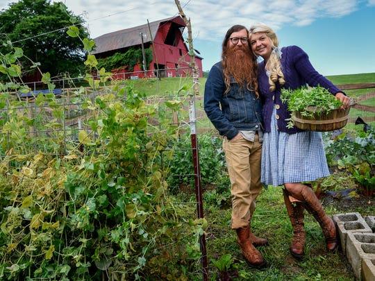 Daniel Foulks and Samantha Lamb pose for a portrait